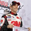 Greg Biffle poses for photos after winning the pole position for Saturday\'s NASCAR Bank of America 500 Sprint Cup series auto race during qualifying in Concord, N.C., Thursday, Oct. 11, 2012. (AP Photo/Terry Renna)