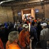 Football fans take cover in the concourse of the stadium as a storm delays the start of the college football game between Oklahoma State and Tulsa on Saturday in Tulsa. Photo by Chris Landsberger, The Oklahoman