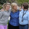 Photo -       Pheobe Blackham, with two of her daughters, Shannon, left, and Tonya, Monday, May 5, 2014, in Alpine.
