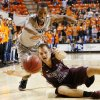OSU\'s Kamari Murphy (21) and Nathan Scheer (30) of Missouri State chase the ball during a men\'s college basketball between Oklahoma State University and Missouri State at Gallagher-Iba Arena in Stillwater, Okla., Saturday, Dec. 8, 2012. OSU won, 62-42. Photo by Nate Billings, The Oklahoman