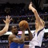 Oklahoma City\'s Serge Ibaka (9) tries to get past Dirk Nowitzki (41) of Dallas during game 1 of the Western Conference Finals in the NBA basketball playoffs between the Dallas Mavericks and the Oklahoma City Thunder at American Airlines Center in Dallas, Tuesday, May 17, 2011. Photo by Bryan Terry, The Oklahoman