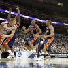 OU\'s Blake Griffin looks for room under the basket during a first round game of the men\'s NCAA tournament between Oklahoma and Morgan State in Kansas City, Mo., Thursday, March 19, 2009. PHOTO BY BRYAN TERRY, THE OKLAHOMAN