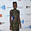 Photo - Lupita  Nyong'o arrives at the 25th Annual GLAAD Media Awards on Saturday, April 12, 2014. (Richard Shotwell/Invision/AP)