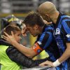 Photo - Atalanta's German Denis, center, of Argentina, celebrates with his son Matias after scoring during a Serie A soccer match against Napoli in Bergamo, Italy, Sunday, Feb. 2, 2014. (AP Photo/Felice Calabro')