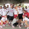 UNIVERSITY OF OKLAHOMA / WOMEN\'S COLLEGE BASKETBALL TEAM / HAITI TRIP / GROUP PHOTO: The OU women\'s basketball team trip to Haiti. PROVIDED ORG XMIT: KOD