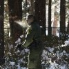 San Bernardino County Sheriff\'s officer Ken Owens searches a home for former Los Angeles police officer Christopher Dorner in Big Bear Lake, Calif, Sunday, Feb. 10, 2013. The hunt for the former Los Angeles police officer suspected in three killings entered a fourth day in snow-covered mountains Sunday, a day after the police chief ordered a review of the disciplinary case that led to the fugitive\'s firing and new details emerged of the evidence he left behind. (AP Photo/Jae C. Hong)