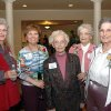 Martha Best, Touchmark at Coffee Creek\'s Parkview hoomeowner Liz Codding, and Grandview residents Virginia Craig, Virginia Stinson and Bea Coleman visit during a VIP reception to mark the opening of the Grandview apartments, a part of the Touchmark at Coffee Creek retirement community in north Edmond. Community Photo By: Richard Hail Submitted By: Carol, Edmond