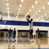 Oklahoma City\'s Serge Ibaka shoots during the Thunder\'s practice in Oklahoma City, Sunday, Dec. 11, 2011. Photo by Sarah Phipps, The Oklahoman