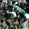 Norman North\'s Carter Klein strips the ball from receiver Nathan Caty after a reception in the first quarter as Broken Arrow plays Norman North in class 6A football on Friday, Nov. 16, 2012 in Norman, Okla. The ball was recovered by the Timberwolves. Photo by Steve Sisney, The Oklahoman
