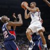 Oklahoma City\'s Eric Maynor (6) tries to get past Joe Smith (32) of Atlanta during the NBA basketball game between the Atlanta Hawks and the Oklahoma City Thunder at the Ford Center in Oklahoma City, Tuesday, February 2, 2010. Photo by Nate Billings, The Oklahoman
