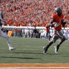 Oklahoma State\'s Joseph Randle (1) scores a touchdown as Baylor\'s Ahmad Dixon (6) chases him down during a college football game between the Oklahoma State University Cowboys (OSU) and the Baylor University Bears (BU) at Boone Pickens Stadium in Stillwater, Okla., Saturday, Oct. 29, 2011. Photo by Sarah Phipps, The Oklahoman