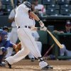 Oklahoma City\'s Steve Murphy (21) breaks his bat in the seventh inning during the minor league baseball game between the Omaha Royals and Oklahoma City RedHawks at the Bricktown Ballpark in Oklahoma City, Monday, July 6, 2009. Photo by Nate Billings, The Oklahoman ORG XMIT: KOD
