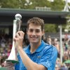 Photo - John Isner of the U.S. poses with his trophy after defeating Taiwan's Lu Yen-hsun 7-6, 7-6 in their men's singles final match to win the Heineken Open tennis tournament in Auckland, New Zealand, Saturday, Jan. 11, 2014. (AP Photo/SNPA, David Rowland) NEW ZEALAND OUT