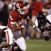 OU\'s Juaguin Iglesias scores during the first half of the college football game between the University of Oklahoma Sooners and Texas Tech University at the Gaylord Family -- Oklahoma Memorial Stadium on Saturday, Nov. 22, 2008, in Norman, Okla. BY STEVE SISNEY, THE OKLAHOMAN