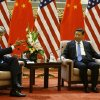 Photo - U.S. Secretary of State John Kerry meets with China's President Xi Jinping, right, at the Great Hall of the People in Beijing Thursday, July 10, 2014. (AP Photo/Jim Bourg, Pool)