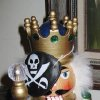 AHOY MATEYS...Even the nutcrackers had pirate\'s eye patches. (Photo by Helen Ford Wallace).