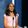 Kerry Washington accepts the President\'s award at the 44th Annual NAACP Image Awards at the Shrine Auditorium in Los Angeles on Friday, Feb. 1, 2013. (Photo by Matt Sayles/Invision/AP)