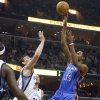 Oklahoma City\'s Kevin Durant (35) shoots over Memphis\' Marc Gasol (33) during Game 6 in the first round of the NBA playoffs between the Oklahoma City Thunder and the Memphis Grizzlies at FedExForum in Memphis, Tenn., Thursday, May 1, 2014. Photo by Bryan Terry, The Oklahoman