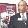 """Heisman Trophy winner Billy Sims says he will never quit saying, """"Boomer."""" AP photo"""