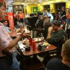 Bryan Hull, a founding director of Oklahoma Open Carry Association, addresses a crowd that showed up at Beverly\'s Pancake House at midnight Thursday to mark the state\'s transition from a concealed carry one to an open carry one. By Zeke Campfield - THE OKLAHOMAN