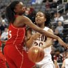 Del City\'s Toni Young (15) tries to shut down Tulsa Union\'s Destinee Frierson (20) during the girls class 6A quarterfinals game at the Ford Center on Thursday, March 6, 2008, in Oklahoma City, Okla. BY CHRIS LANDSBERGER, THE OKLAHOMAN