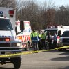 CORRECT LOCATION TO THE FIREHOUSE - Emergency personnel wait at the staging area outside Sandy Hook firehouse in Sandy Hook, Conn. A gunman opened fire, leaving at least 27 people dead, including 20 children, Friday, Dec. 14, 2012 at the Sandy Hook Elementary school down the street. (AP Photo/The Journal News, Frank Becerra Jr.) MANDATORY CREDIT, NYC OUT, NO SALES, TV OUT, NEWSDAY OUT; MAGS OUT