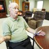 Above: James Nicholson discusses the Southern Oklahoma Resource Center in Pauls Valley.
