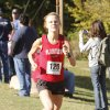 Plainview\'s Alex Davis maintains a healthy lead during the class 3A girls State cross country meet at Gordon Cooper Vo-Tech in Shawnee, OK, Saturday, October 20, 2012. She went on to win the 3A meet. By Paul Hellstern, The Oklahoman