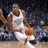 Oklahoma City\'s Kevin Durant (35) drives to the basket during Game 1 in the second round of the NBA playoffs between the Oklahoma City Thunder and the L.A. Lakers at Chesapeake Energy Arena in Oklahoma City, Monday, May 14, 2012. Photo by Sarah Phipps, The Oklahoman
