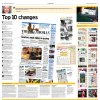 Photo - Graphic:  Top 10 changes - Newspaper redesign