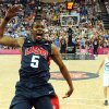 U.S. / UNITED STATES / TEAM USA: United States\' forward Kevin Durant jumps for the ball during a men\'s semifinal basketball game against Argentina at the 2012 Summer Olympics on Friday, Aug. 10, 2012, in London. (AP Photo/Mark Ralston, Pool) ORG XMIT: OLY506