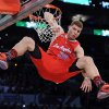 Los Angeles Clippers\' Blake Griffin dunks during the Slam Dunk Contest at the NBA basketball All-Star weekend Saturday, Feb. 19, 2011, in Los Angeles. (AP Photo/Mark J. Terrill)