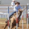 Destiny Robinson, from Maud, in the Pole Bending at the International Finals Youth Rodeo in Shawnee, Friday, July 11, 2014. Photo by David McDaniel, The Oklahoman