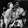FILE - In this Dec. 16, 1978 file photo, Mick Jagger, left, of the Rolling Stones, joins Jamaica\'s reggae musician Peter Tosh during a rehearsal for NBC\'s ?Saturday Night Live,