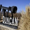 The Duncan sign with an oil rig is shown. Jim Beckel - THE OKLAHOMAN