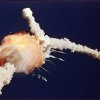 FILE - In this Jan. 28, 1986 file photo, the space shuttle Challenger explodes shortly after lifting off from the Kennedy Space Center in Cape Canaveral, Fla. Sony Electronics and the Nielsen television research company collaborated on a survey ranking TV\'s most memorable moments. Other TV events include, the Sept. 11 attacks in 2001, Hurricane Katrina in 2005, the O.J. Simpson murder trial verdict in 1995 and the death of Osama bin Laden in 2011. (AP Photo/Bruce Weaver, File) ORG XMIT: NYET123