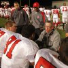 Carl Albert Titans head coach Gary Rose talks with players as his team plays the Del City Eagles in Class 5A, first round, playoff action in high school football on Friday, Nov. 9, 2012 in Del City, Okla. Photo by Steve Sisney, The Oklahoman