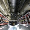 The bomb bay doors are opened as the last airworthy B-29 Superfortress flies into Wiley Post Airport in Oklahoma City, OK, Tuesday, October 2, 2012. It will be on exhibit for six days at Wiley Post Airport. By Paul Hellstern, The Oklahoman