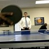 U.S. Attorney for the Western District of Oklahoma John Richter plays table tennis with at-risk youth at Northeast Community Services Center in Oklahoma City on Tuesday, May 12, 2009. Photo by John Clanton, The Oklahoman