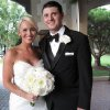 Kelsey Quillian and Blake Renegar were at the Oklahoma City Golf and Country Club for their wedding reception. They were married July 20. (Photo by Helen Ford Wallace).