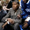 INJURY / INJURED: Oklahoma City\'s Kevin Durant sits on the bench during the NBA basketball game between the Oklahoma City Thunder and the Orlando Magic at the Ford Center in Oklahoma City, Wednesday, Nov. 12, 2008. BY BRYAN TERRY, THE OKLAHOMAN ORG XMIT: KOD