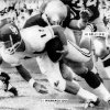 OU quarterback Bob Warmack gets tackled in the Sooners\' opener against Notre Dame in 1968. (Oklahoman archive photo)