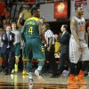 Oklahoma State\'s Marcus Smart (33) walks off the court beside Baylor\'s Gary Franklin (4) after Baylor made a basket late in an NCAA college basketball game between Oklahoma State University (OSU) and Baylor at Gallagher-Iba Arena in Stillwater, Okla., Saturday, Feb. 1, 2014. Baylor won 76-70. Photo by Bryan Terry, The Oklahoman