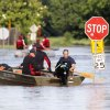 Del City and Edmond Fire Dept. rescue crews use boats to rescue residents from a flooded mobile home park off of Air Depot Blvd. between NE 10th and NE 23rd St. in Midwest City, OK, Saturday, June 1, 2013, after up to eight inches of rain fell during the previous 24 hours. Photo by Paul Hellstern, The Oklahoman