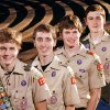 These four brothers, sons of Scott and Terri Smith, all have attained the rank of Eagle Scout in the Boy Scouts of America. From left, are Connor, Austin, Spencer and Hunter. They posed for a photograph in Reaves Park in Norman on Wednesday, Dec. 7, 2011. Photo by Jim Beckel, The Oklahoman