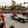Homecoming Royalty Alexis Taitel and Patrick McSweeney ride in the Homecoming Parade before the college football game between the University of Oklahoma Sooners (OU) and the Texas Tech Red Raiders at Gaylord Family-Oklahoma Memorial Stadium in Norman, Okla., on Saturday, Oct. 26, 2013. Photo by Steve Sisney, The Oklahoman