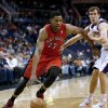 Toronto Raptors\' Rudy Gay (22) drives against Phoenix Suns\' Goran Dragic, of Slovenia, during the first half of an NBA basketball game, Wednesday, March 6, 2013, in Phoenix. (AP Photo/Matt York)