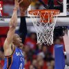 Photo - Oklahoma City's Russell Westbrook (0) dunks during Game 3 of the Western Conference semifinals in the NBA playoffs between the Oklahoma City Thunder and the Los Angeles Clippers at the Staples Center in Los Angeles, Friday, May 9, 2014. PHOTO BY NATE BILLINGS, The Oklahoman