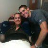 Photo -  OU quarterback Trevor Knight, right, with his father George during George's treatment for cancer. PHOTO PROVIDED