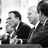 Barry Switzer announces his resignation during a June 19, 1989 press conference in Norman. PHOTO BY STEVE SISNEY, The Oklahoman Archives